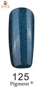 Гель-лак FOX № 125 (зеленовато-синий с микроблеском), 6 мл