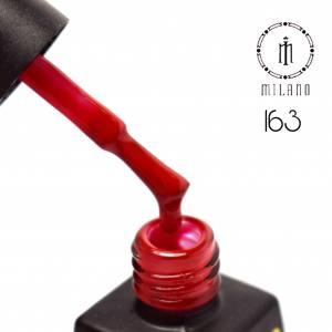 Гель лак MILANO 8мл 163 темный красный