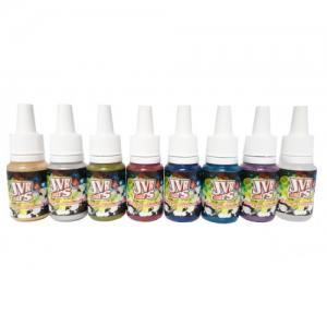 Набор перламутровых красок для аэрографии JVR Colors Fluo 10 мл