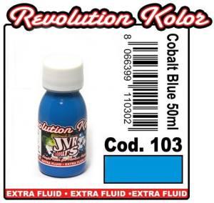 Краска для аэрографии Jvr revolution kolor, opaque cobalt blue #103,10ml синий кобальт