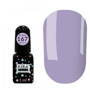 Гель-лак Kira Nails Mini №167(лавандовая нежность, эмаль), 1 мл