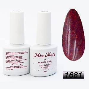 Гель-лак Miss Mary 8ml № 1681 ( мерцающий пунш )