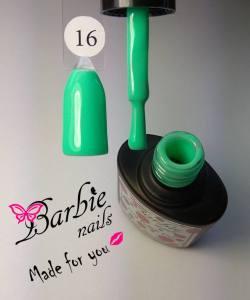 Гель-лак Barbie Nails №16 зелено-бирюзовый