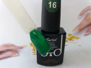 Гель-лак Tertio Baffo 10мл №16 темный зеленый