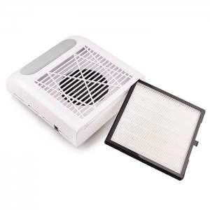 Вытяжка для маникюра SIMEI 858-8 с НЕРА фильтром, 80W - белая