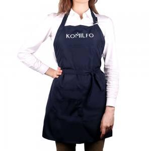 Фартух Komilfo короткий (темно-синий), 67*72,5 см