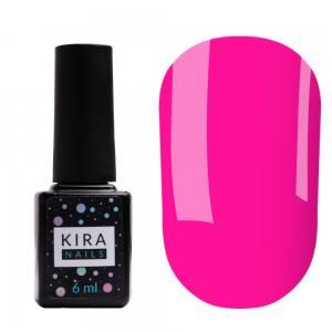 Гель-лак Kira Nails №173 (неоново-розовый, эмаль), 6 мл