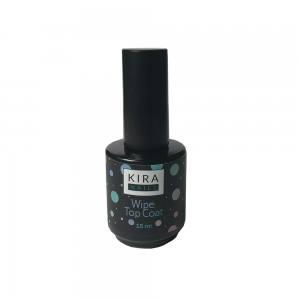 Закрепитель для гель-лака с липким слоем Kira nails wipe top coat 15 мл