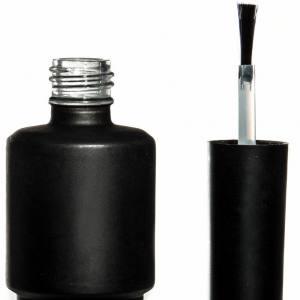 Бутылочка с кисточкой 15мл (темное стекло)