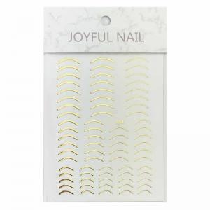 3D гибкая лента для дизайна ногтей лунки золото