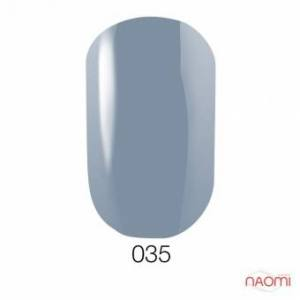 Гель-лак GO 035, 5.8 мл серо-голубой, эмалевый