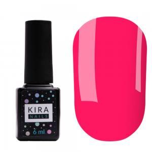 Гель-лак Kira Nails №176 (теплый неоновый розовый, эмаль), 6 мл