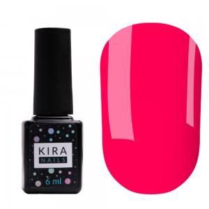 Гель-лак Kira Nails №177 (неоновый малиновый, эмаль), 6 мл
