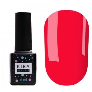 Гель-лак Kira Nails №178 (яркий розово-красный, эмаль), 6 мл