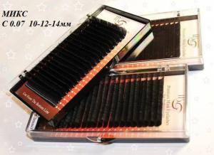 Ресницы I-Beauty C-0.07 микс 10-12-14мм