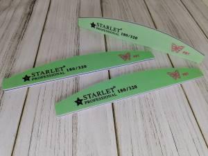 Пилка Starlet полукруг, 180/320 зеленая бабочка