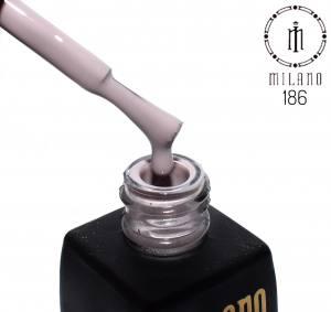 Гель лак MILANO 8мл 186 платиновый