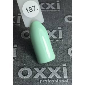 Гель лак Oxxi №187(бледный салатовый, эмаль)