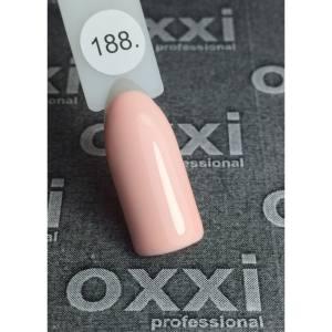 Гель лак Oxxi №188(бледный персиковый, эмаль) 8мл