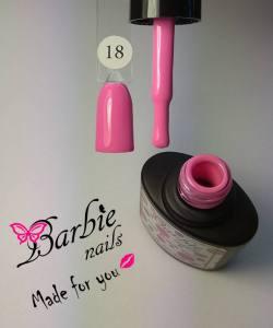 Гель-лак Barbie Nails №18 яркий розовый
