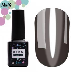 Гель-лак Kira Nails Vitrage №V18 (черный, витражный), 6 мл