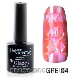 Витражный гель-лак Lady Victory Glaze №4 розовый