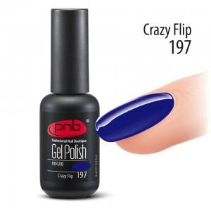 Гель-лак PNB Crazy Flip 197, 8 мл темно-синий