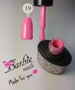 Гель-лак Barbie Nails №19 насыщенный розовый