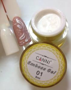 Гель-паста CANNI 8г №1 белый   3D Embossing gel