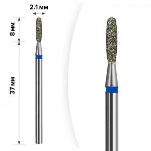 Алмазная насадка Mart Пламя Тупое Blue 2,1*8 М- 023