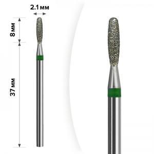 Алмазная насадка Mart Пламя Тупое Green 2,1*8 М- 024