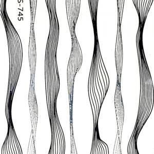 Лента гибкая паутинка чёрно-серебряная