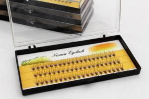 Ресницы Nesura - черные в коробке, 20D C 0.07
