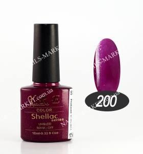 Гель-лак YRE/Bluesky 10мл №200 малиновый с блестками