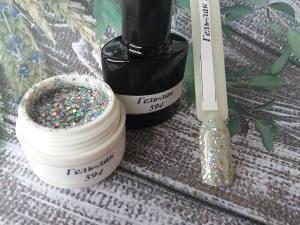 Гель-лак на розлив 5г №594 серебро брокат