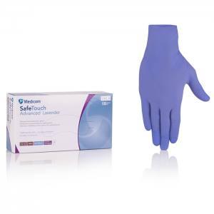 Нитриловые перчатки лавандовые неопудренные Medicom  Lavender