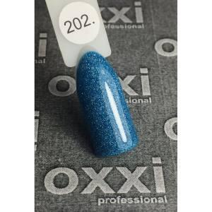 Гель лак Oxxi №202(сине-бирюзовый с насыщенными голографическими блестками)