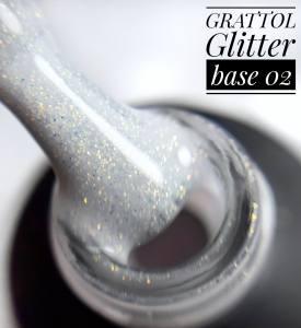 База камуфляж с глиттером Grattol Glitter Rubber Base 9мл №2