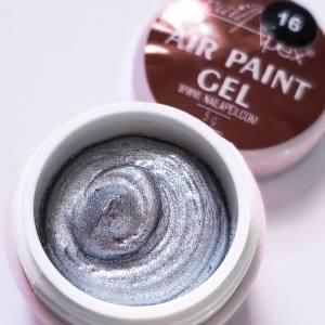 NailApex Гель-краска Air-paint №16  Серебро (воздушная)
