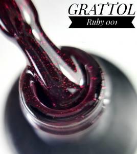 Гель-лак Grattol Ruby 001, 9 мл