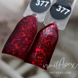 Гель-лак Nailapex №377 6мл красное дерево со слюдой