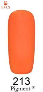 Гель-лак F.O.X. Pigment 6мл №213 неоновый оранжевый