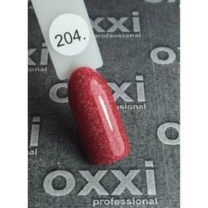 Гель лак Oxxi №204(светлый красный с мелкими насыщенными голографическими б
