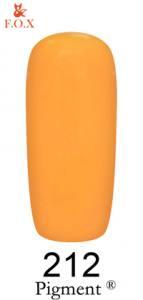 Гель-лак F.O.X. Pigment 6мл №212 светло-оранжевый, кремовый, эмаль