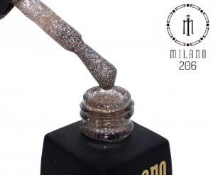 Гель лак MILANO 8мл 206 бронза с блеском хамелеон