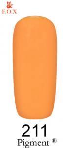 Гель-лак F.O.X. Pigment №211 апельсин 6мл