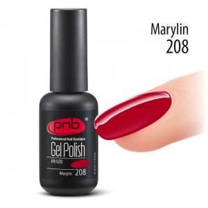 Гель-лак PNB Marylin 208, 8 ml классический красный