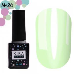 Гель-лак Kira Nails Vitrage №V20 (салатовый, витражный), 6 мл