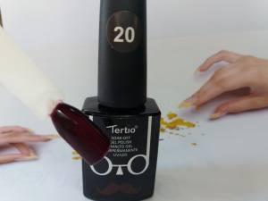Гель-лак Tertio Baffo 10мл №20 темный сливовый