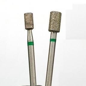 Фреза алмазная Владмива цилиндр зеленый